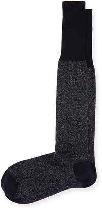 Bresciani Over-the-Calf Glitter Formal Socks, Black