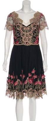 Marchesa Lace Midi Dress w/ Tags