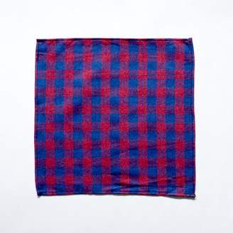 Blade + Blue Burgundy & Blue Flannel Pocket Square