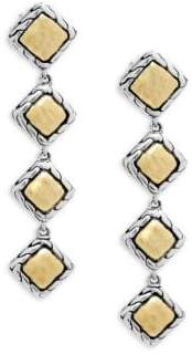 John Hardy Palu 18K Gold and Silver Linear Earrings