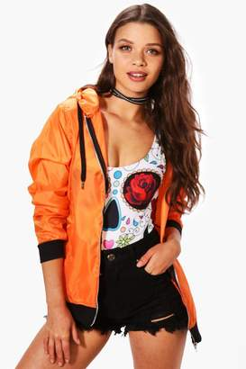 boohoo Lucy Hooded Lightweight Festival Bomber