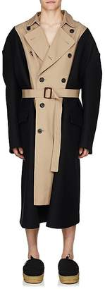 Maison Margiela Men's Gabardine & Wool Melton Oversized Trench Coat