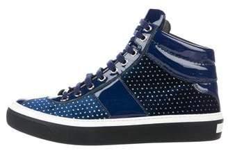 Jimmy Choo Belgravia Mini-Studded High-Top Sneakers