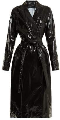 Kwaidan Editions Rubbish Tie Waist Vinyl Trench Coat - Womens - Black