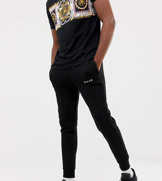 Nicce London skinny joggers in black exclusive to ASOS