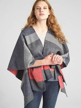 Gap Stripe Tie-Belt Poncho