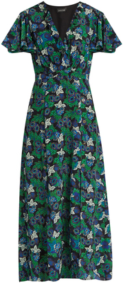 SALONI Josee floral-print silk midi dress $505 thestylecure.com