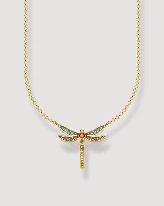 Thomas Sabo Paradise Colours Small Dragonfly Gold Necklace