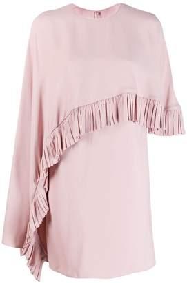Valentino ruched drape panelled dress