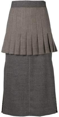 Fendi knitted flared skirt
