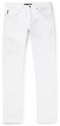 Versace Slim-Fit Denim Jeans - Men - White