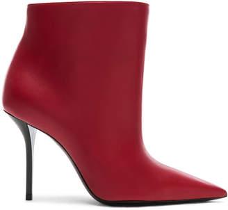 Saint Laurent Pierre Stiletto Ankle Boots in Eros Red | FWRD