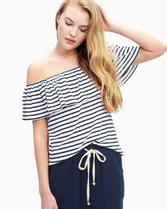 Splendid 1X1 Venice Stripe Off Shoulder Top