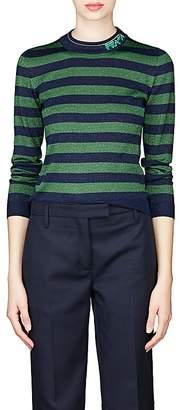 Prada Women's Metallic Wool-Blend Striped Sweater