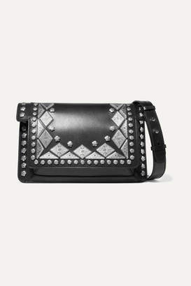 Isabel Marant Maskia Embellished Leather Shoulder Bag - Black