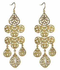 Yochi Design Yochi Gold Chandelier Earrings