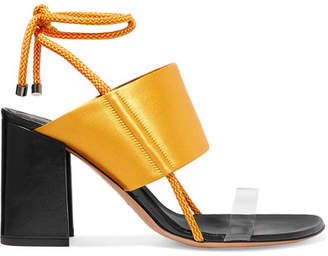 Dries Van Noten Satin And Pvc Sandals - Gold
