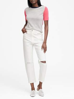 Banana Republic High-Rise Straight-Fit Ankle Jean