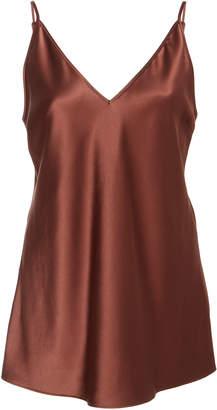 eeedd1282cf770 Brown Satin Top - ShopStyle UK