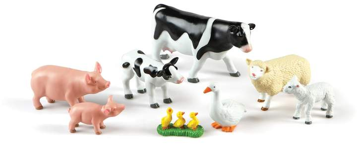 Learning Resources 8-pc. Mommas & Babies Jumbo Farm Animals