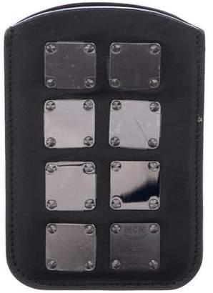 MCM Embellished Leather Phone Case