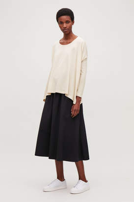 Cos BOXY BRUSHED-COTTON JERSEY TOP