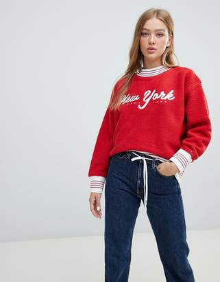 Tommy Jeans logo fleece sweatshirt