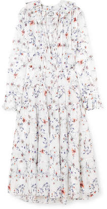 DAY Birger et Mikkelsen Evi Grintela - Marie Floral-print Cotton-voile Midi Dress - White