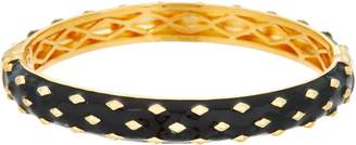 Heritage Jewelry Collection Heritage Jewelry Diamond Pattern Hinged Enamel Bracelet
