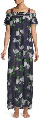 Robin Piccone Floral Off-The-Shoulder Cover-Up
