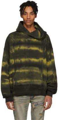 Amiri Yellow Tie-Dye Shotgun Hoodie