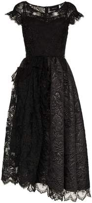 Simone Rocha short-sleeved patchwork lace dress