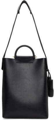 Building Block Black Leather Business Tote