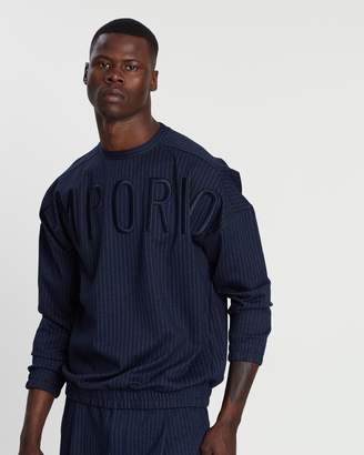 Emporio Armani Chalk Stripe Sweat Top