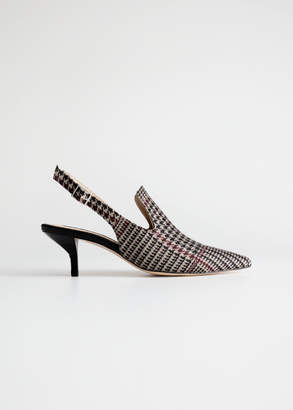 And other stories Houndstooth Slingback Kitten Heels