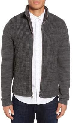 CALIBRATE Mixed Media Full Zip Sweater