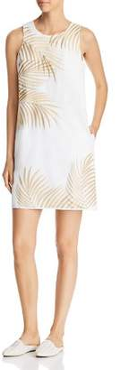 Tommy Bahama Lanailette Palm-Embroidered Dress