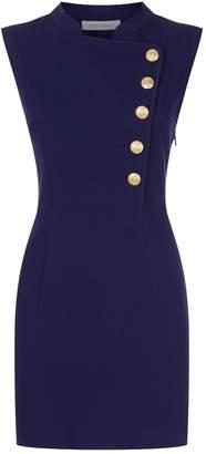 Pierre Balmain Embossed Button Mini Dress