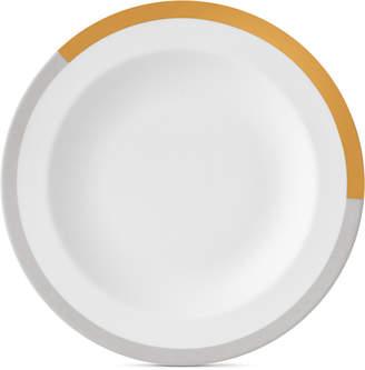 Vera Wang Wedgwood Castillon Gold/Gray Collection Rim Soup Bowl