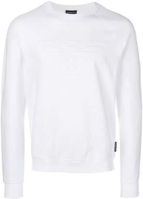 Emporio Armani textured logo sweatshirt