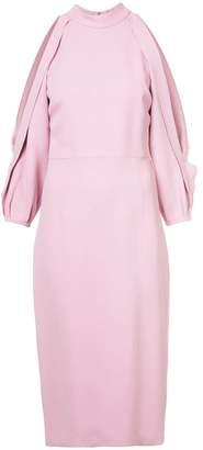 Cushnie et Ochs slit sleeves fitted dress