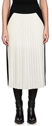 Givenchy Women's Colorblocked Silk-Blend Midi-Skirt - Black