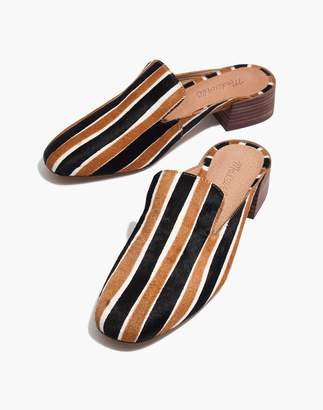 Madewell The Willa Loafer Mule in Striped Calf Hair