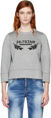 Dsquared2 Grey Felted Logo Sweatshirt $450 thestylecure.com