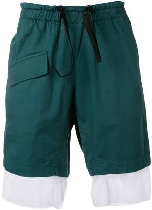Corelate contrast drawstring shorts