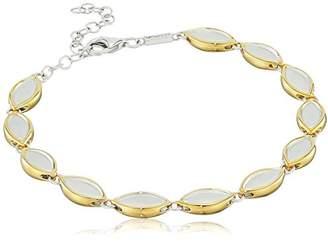Fiorelli Gold Yellow Gold Diamonds Open Organic Bracelet cjR0VEj3ws