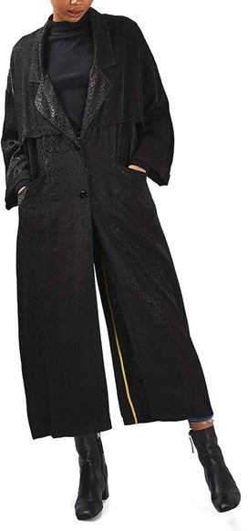 TopshopWomen's Topshop Leopard Jacquard Duster Coat