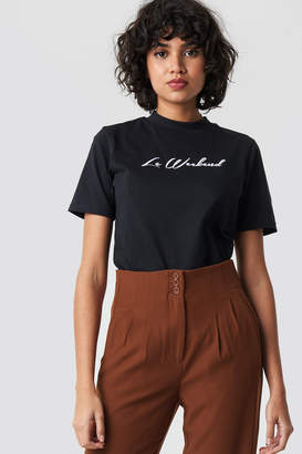 Colourful Rebel Le Weekend High Neck Tee Black