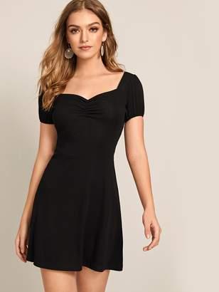 Shein Sweetheart Solid Mini Dress