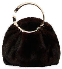 Valentino Bebop Loop Fur Clutch Bag